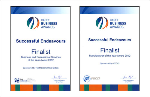 Successful Endeavours - Finalists in Casey Business Awards 2012