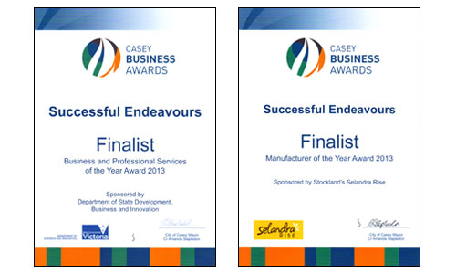 Successful Endeavours - Finalists - Casey Business Awards 2013