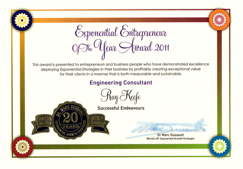 Successful Endeavours Exponential Entrepreneur Award 2011