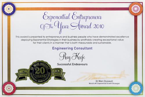 2010 Exponential Entrepreneur Award