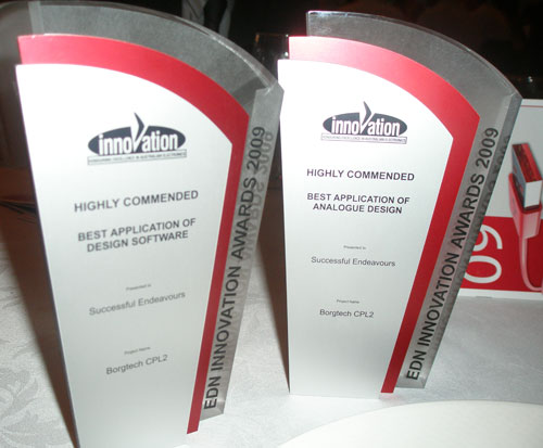 Successful Endeavours - Winner of Two Highly Commended Awards at EDN Innovation Awards 2009